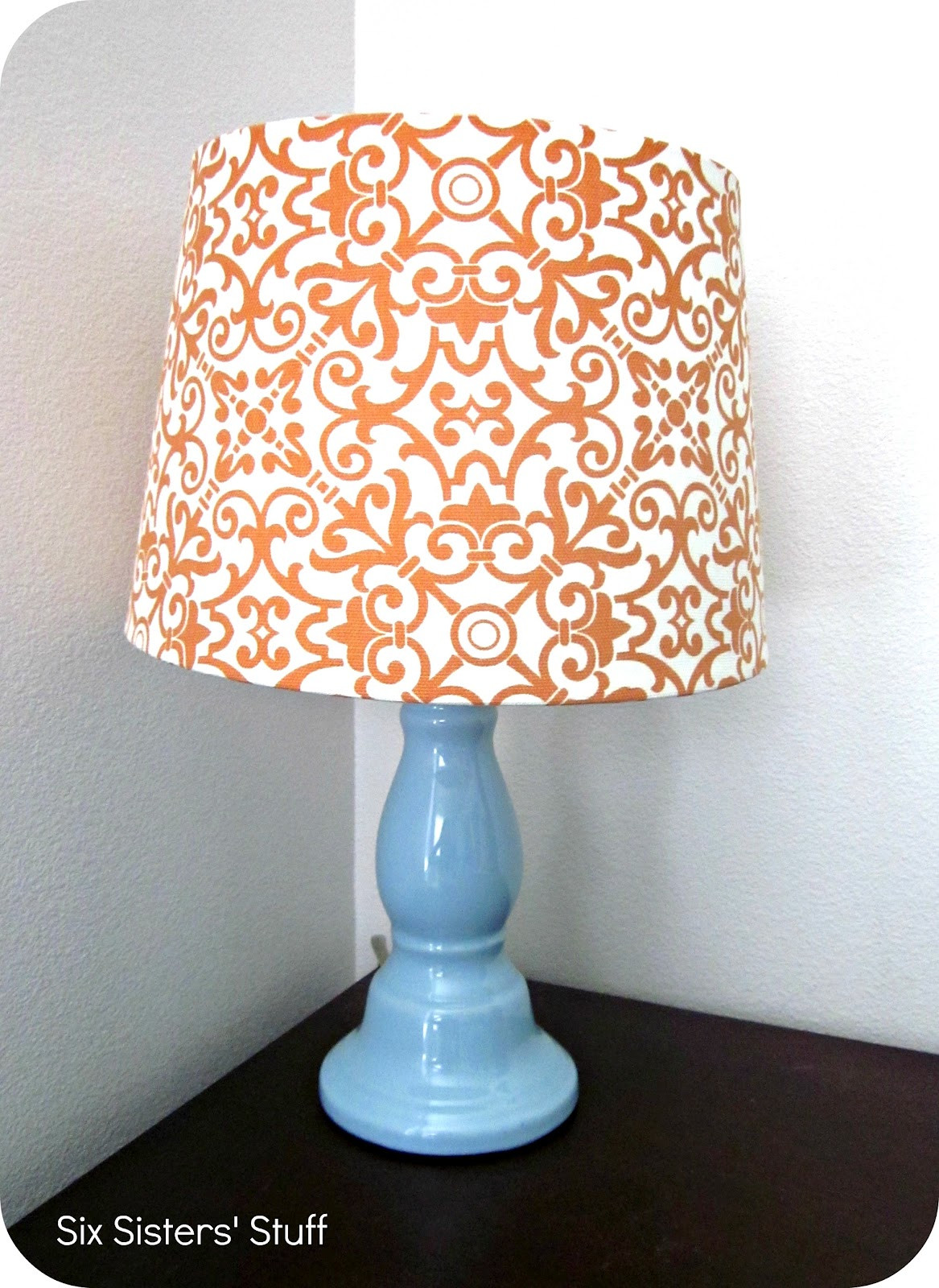 Diy Lampshade  DIY Fabric Lampshade Recover Tutorial