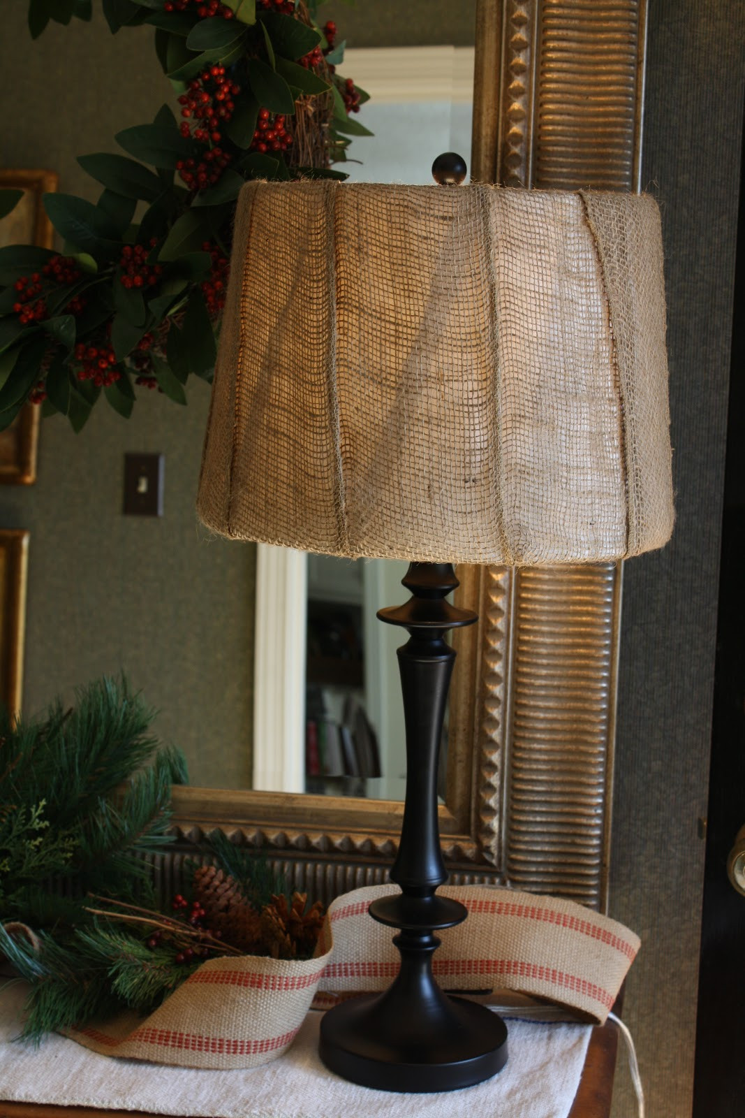 Diy Lampshade  Coastal Charm DIY Lampshade and Christmas Vignette
