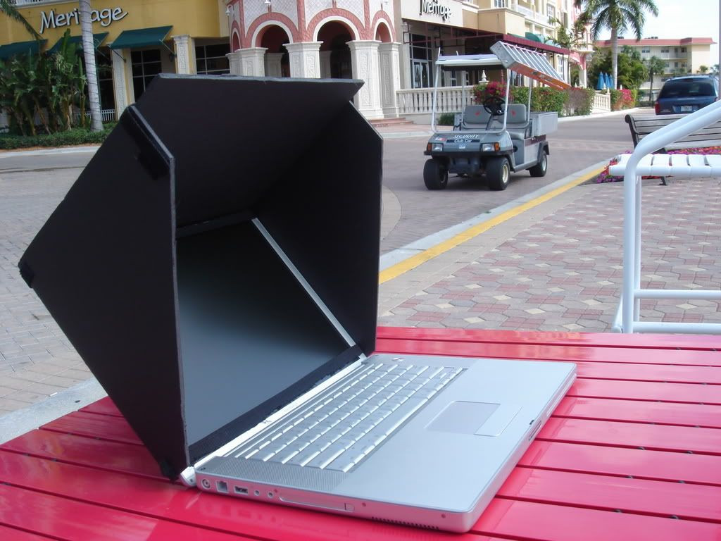 Diy Laptop  DIY Laptop Screen Hood Visor Tips & Tools