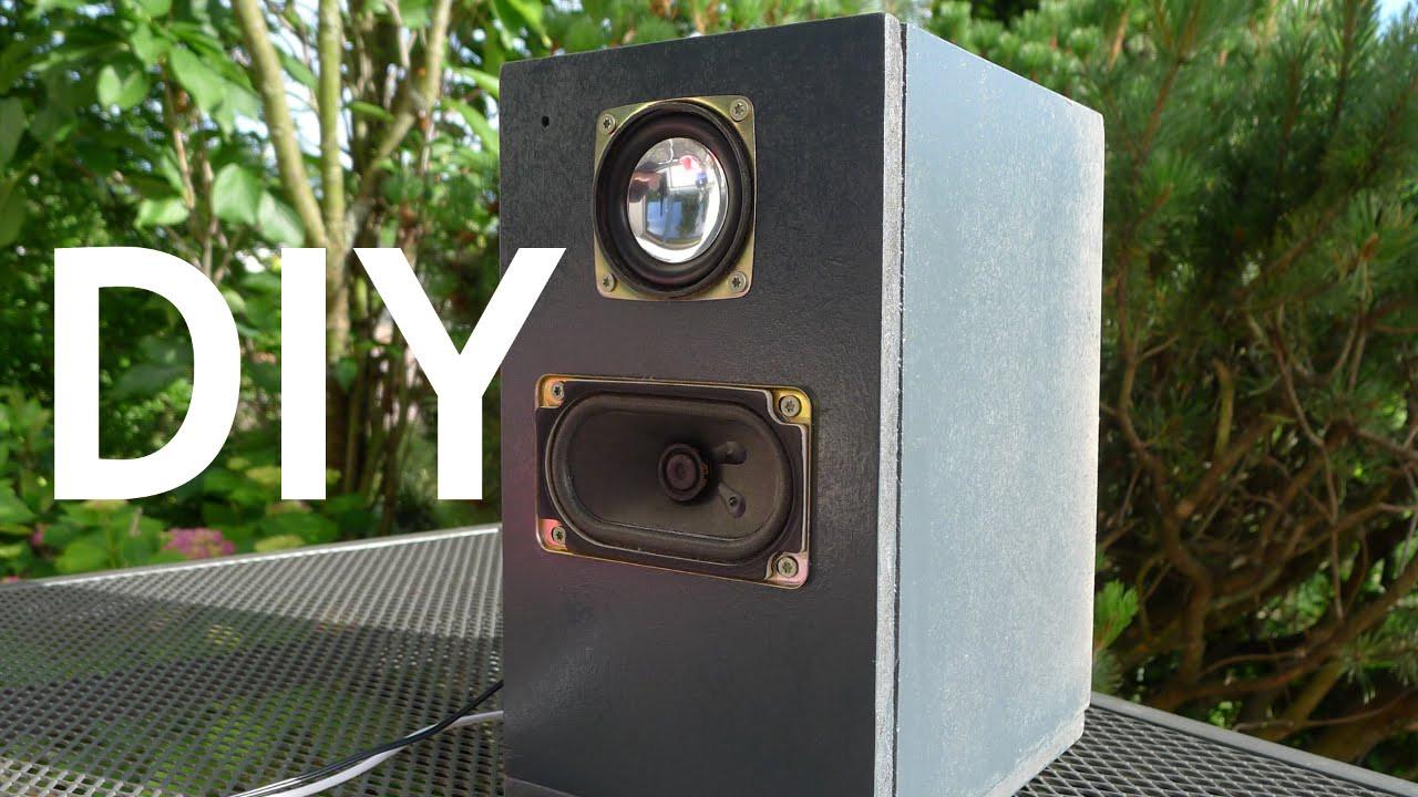 Diy Lautsprecher  DIY Mobiler Lautsprecher selber bauen einfach günstig
