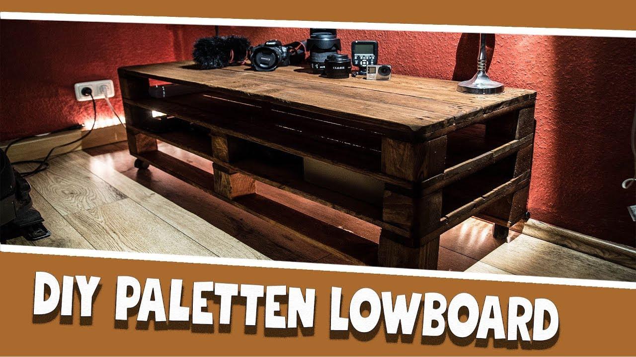Diy Lowboard  DIY Paletten Lowboard