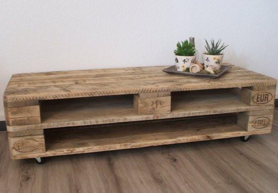 Diy Lowboard  Lowboard TV Schrank aus Paletten mit 3 oder 4 Fächern