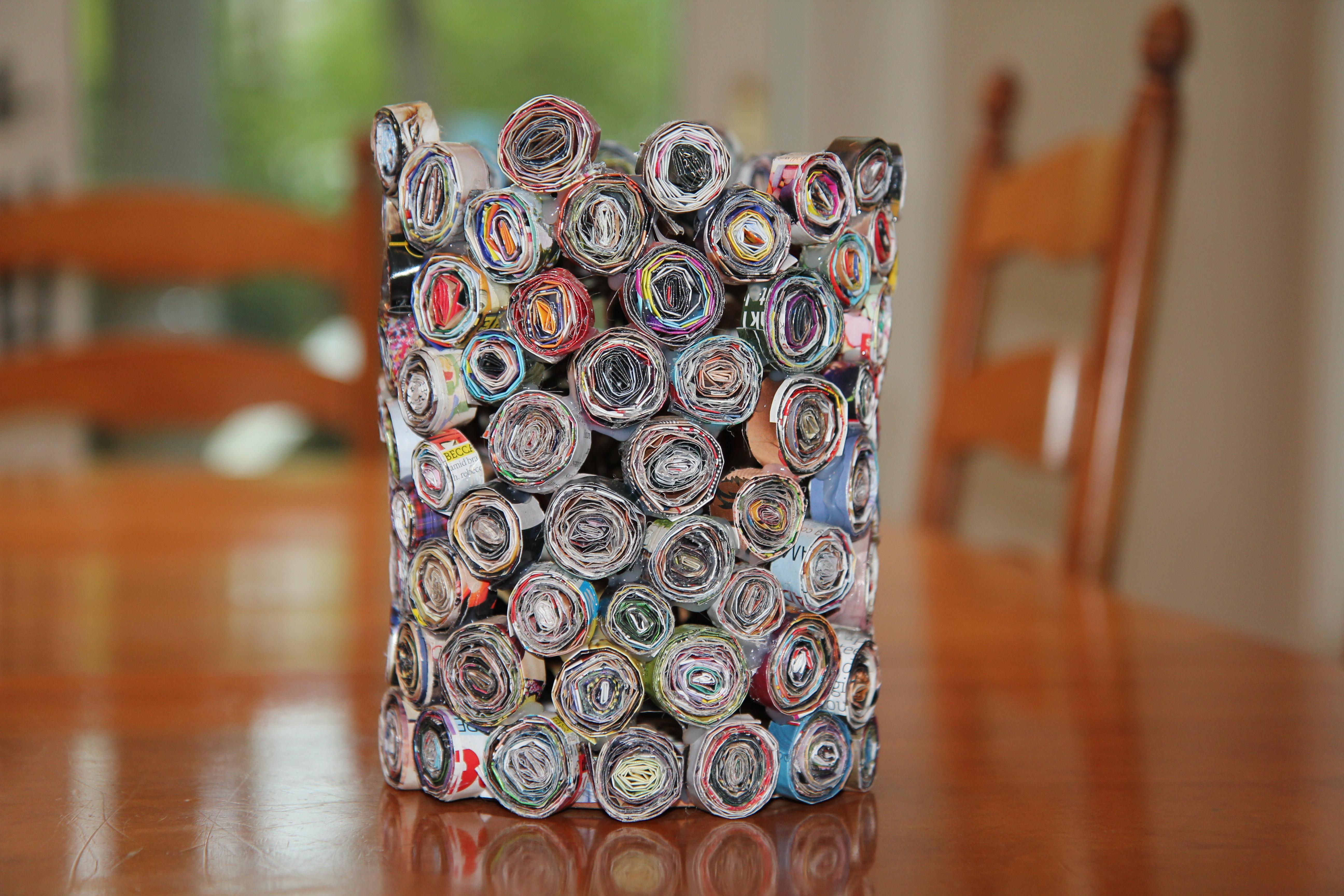 Diy Magazin  DIY Magazine Vase Trivet & Coasters