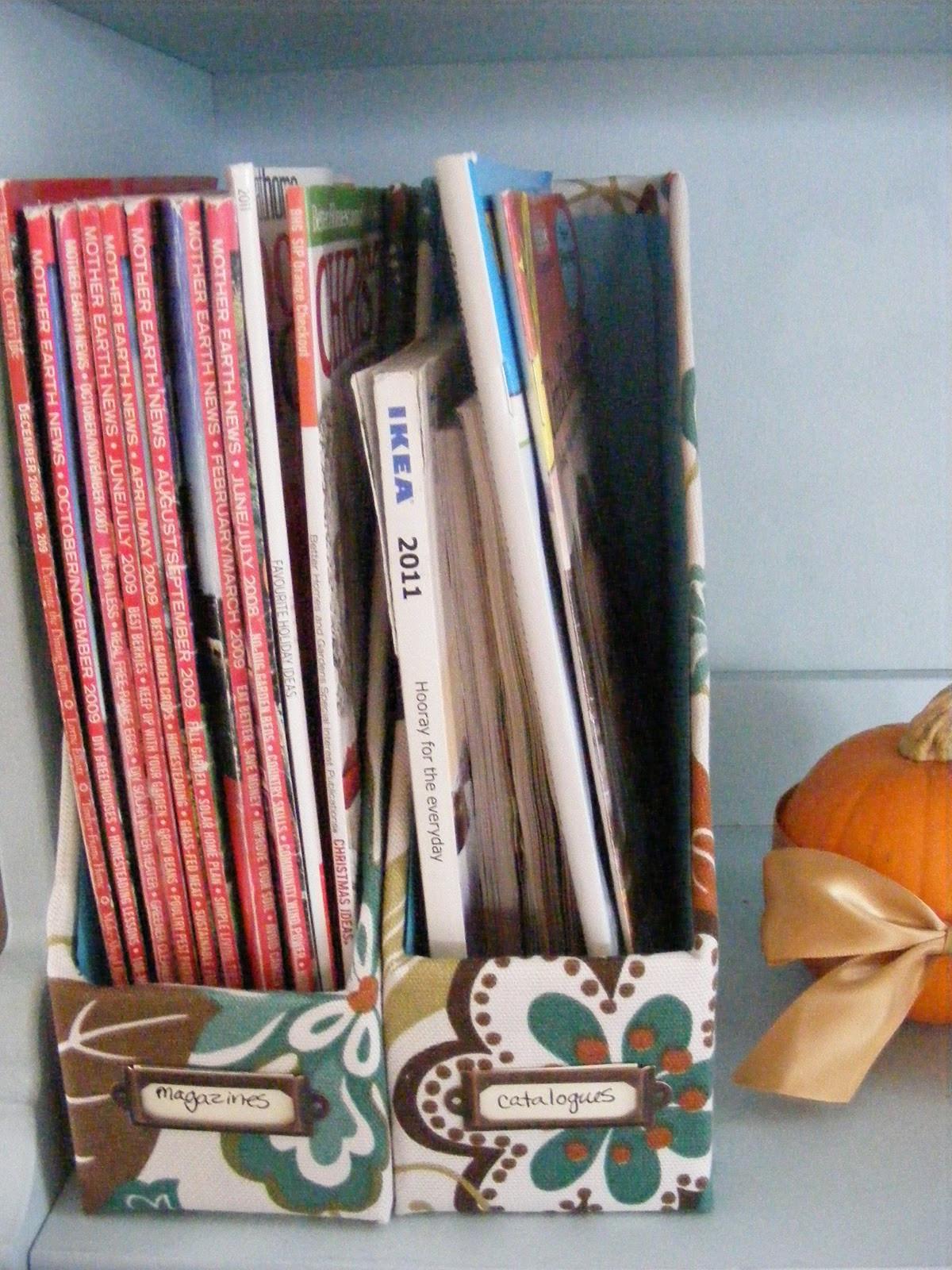 Diy Magazin  OrganizedHome Day 21 DIY Magazine File