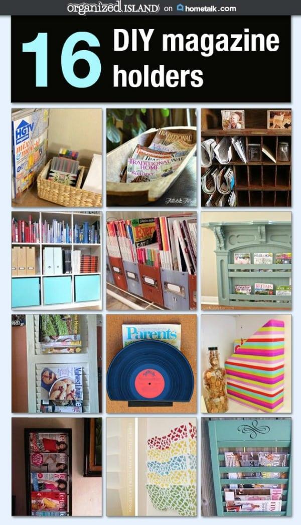 Diy Magazin  16 DIY Magazine Holders