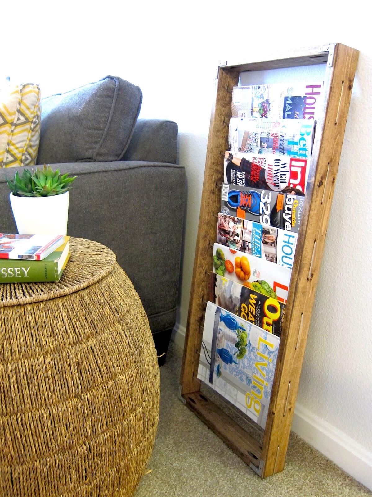 Diy Magazin  Inspired Whims DIY Magazine Rack