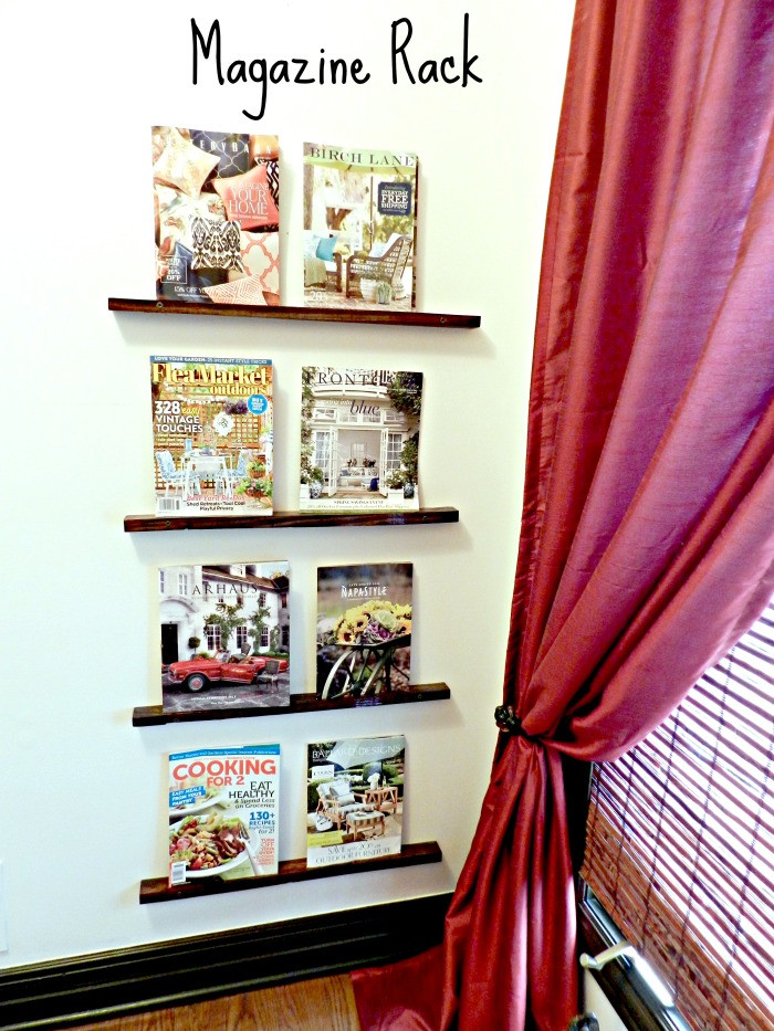 Diy Magazin  DIY Magazine Rack Redhead Can Decorate
