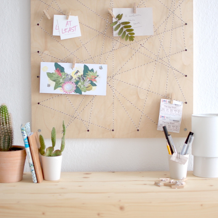 Diy Memoboard  at least Pinnwand DIY Memoboard selber machen