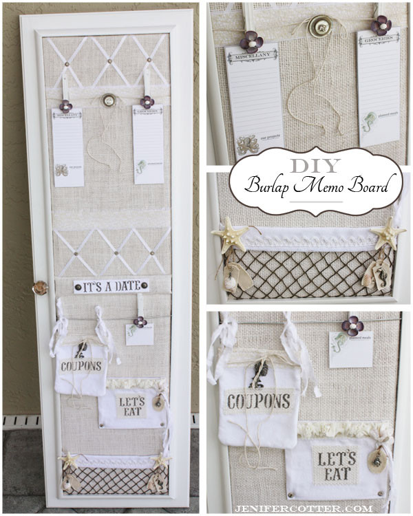 Diy Memoboard  Simply Sensational Tuesday 20 Organizing Homelife