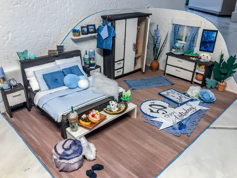 Diy Möbel Blog  DIY Geldgeschenk Mini Schlafzimmer DIY Craft Sketch