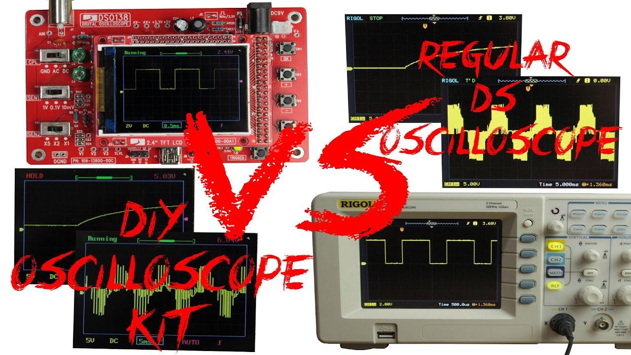 Diy Oscilloscope  DIY Oscilloscope Kit 20$ VS Regular DS Oscilloscope 400