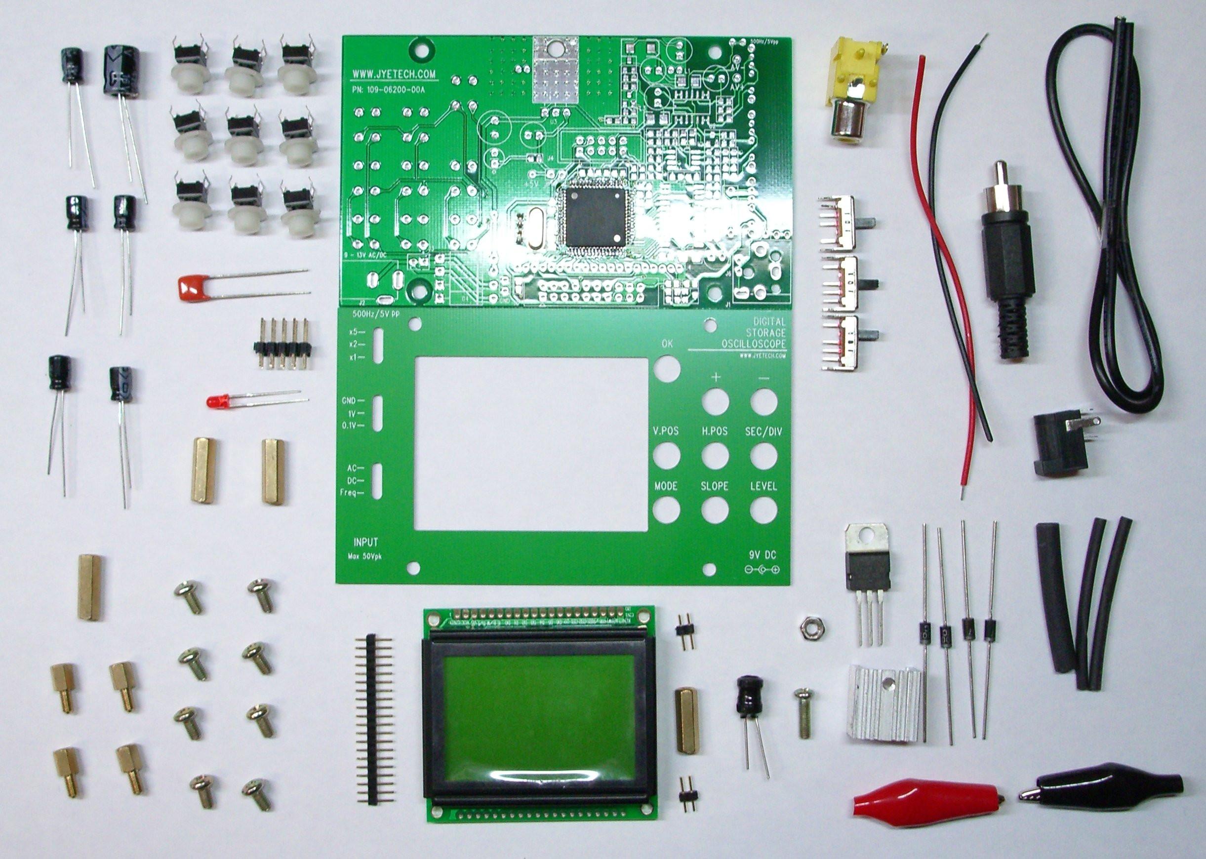Diy Oscilloscope  Jyetech AVR digital oscilloscope DIY KIT — Firmware