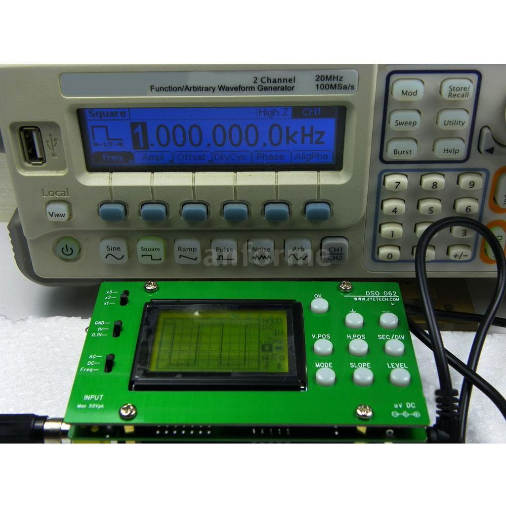 Diy Oscilloscope  DSO062 LCD Digital Oscilloscope 1MHz Analog Bandwidth