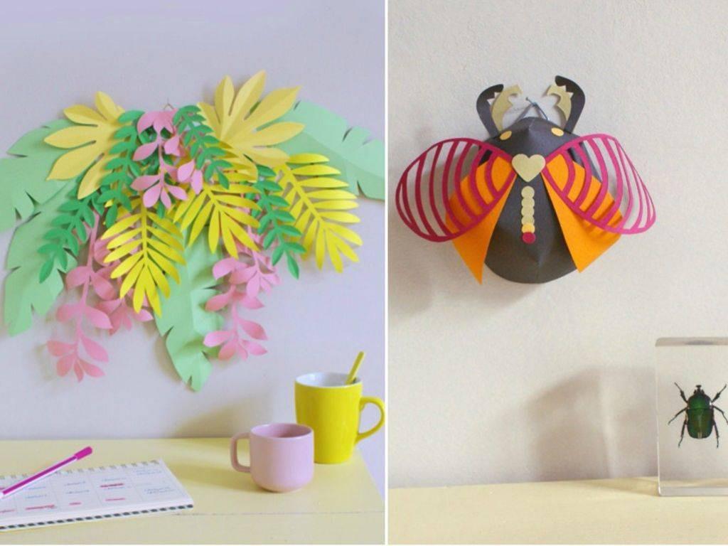 Diy Papier  DIY position florale et insecte 3D en papier Modes