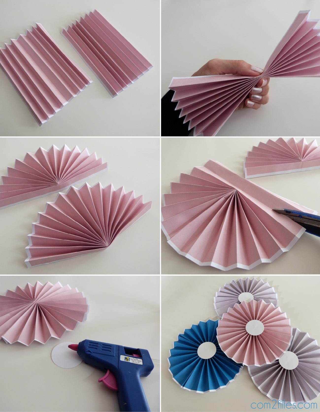 Diy Papier  DIY le tuto des rosaces en papier niveau facile