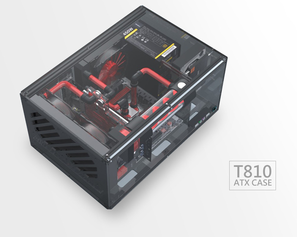 Diy Pc Case  GEEEK T810 ATX DIY PC CASE