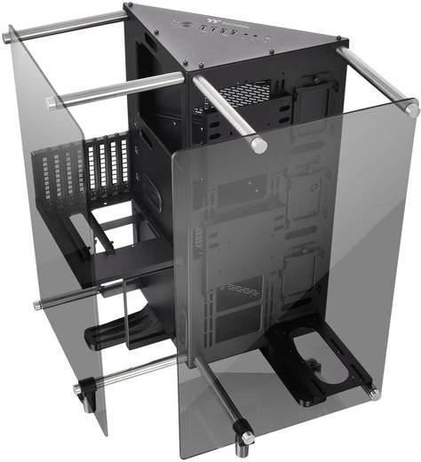 Diy Pc Gehäuse  Midi Tower PC Gehäuse Thermaltake Core P90 TG Schwarz LCS