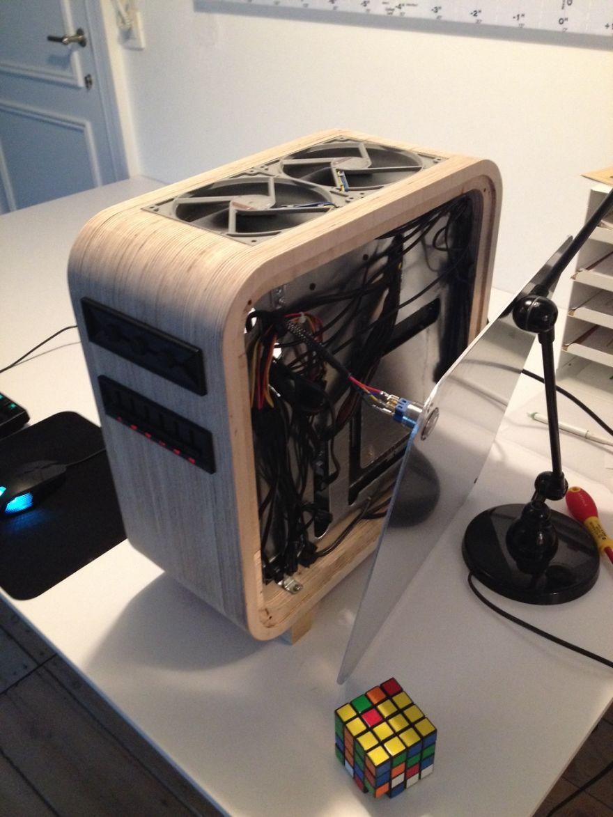 Diy Pc Gehäuse  Student baut sich beeindruckendes Luxus PC Gehäuse KlonBlog