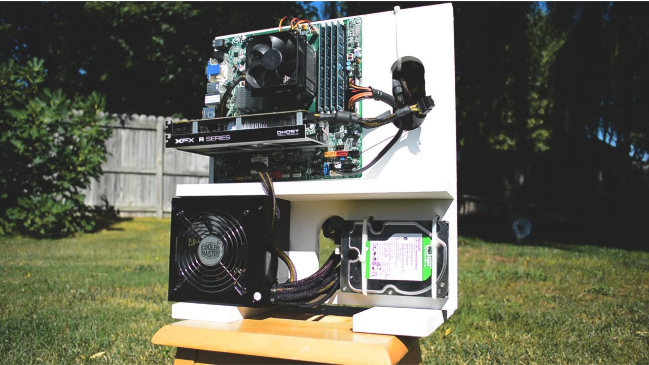 Diy Pc Gehäuse  How to make a $10 DIY Wooden Gaming PC Case