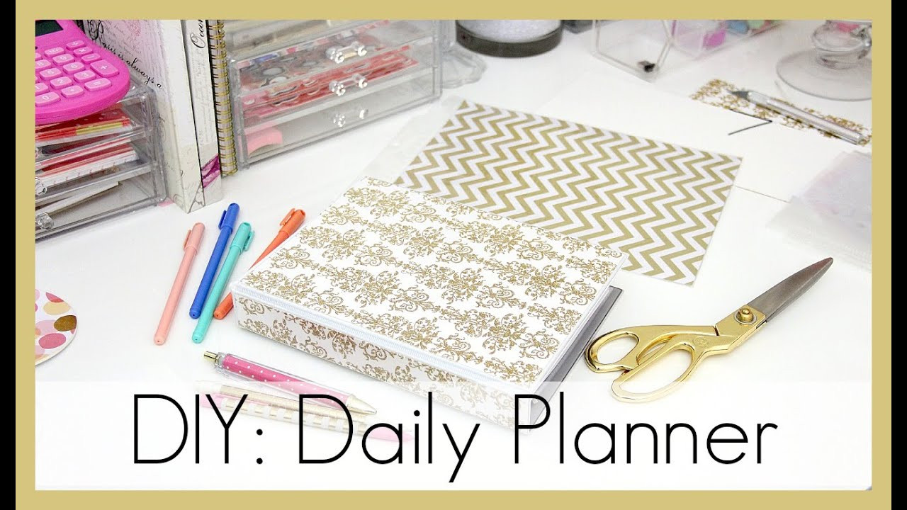 Diy Planner  DIY How I Made My Daily Planner