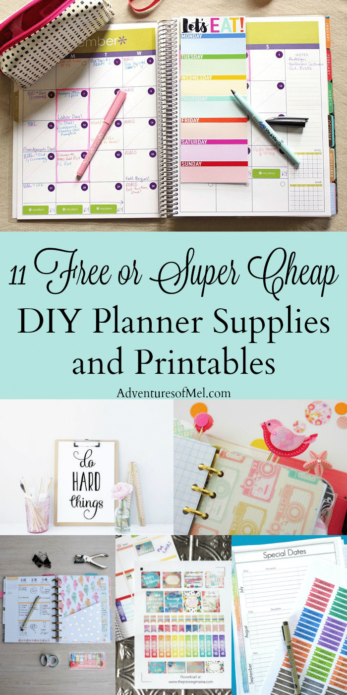 Diy Planner  11 Free or Super Cheap DIY Planner Supplies and Printables