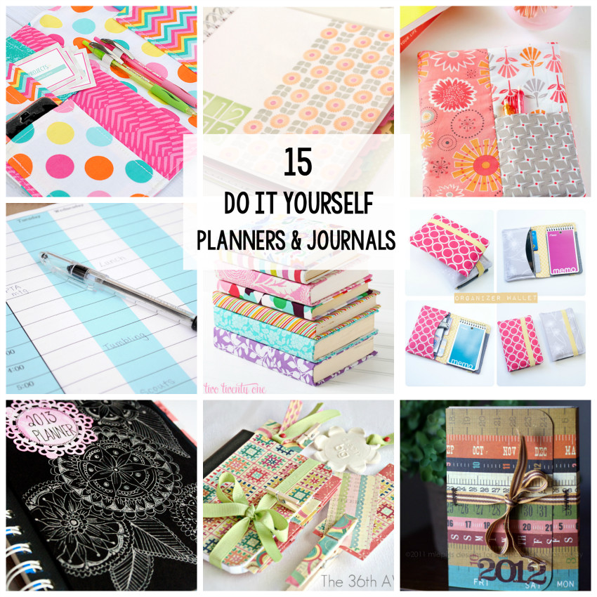 Diy Planner  15 Planners & Journals to Make or Print at Home Crazy