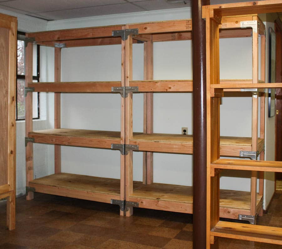 Diy Shelf  DIY 2x4 Shelving Unit Sweet Pea