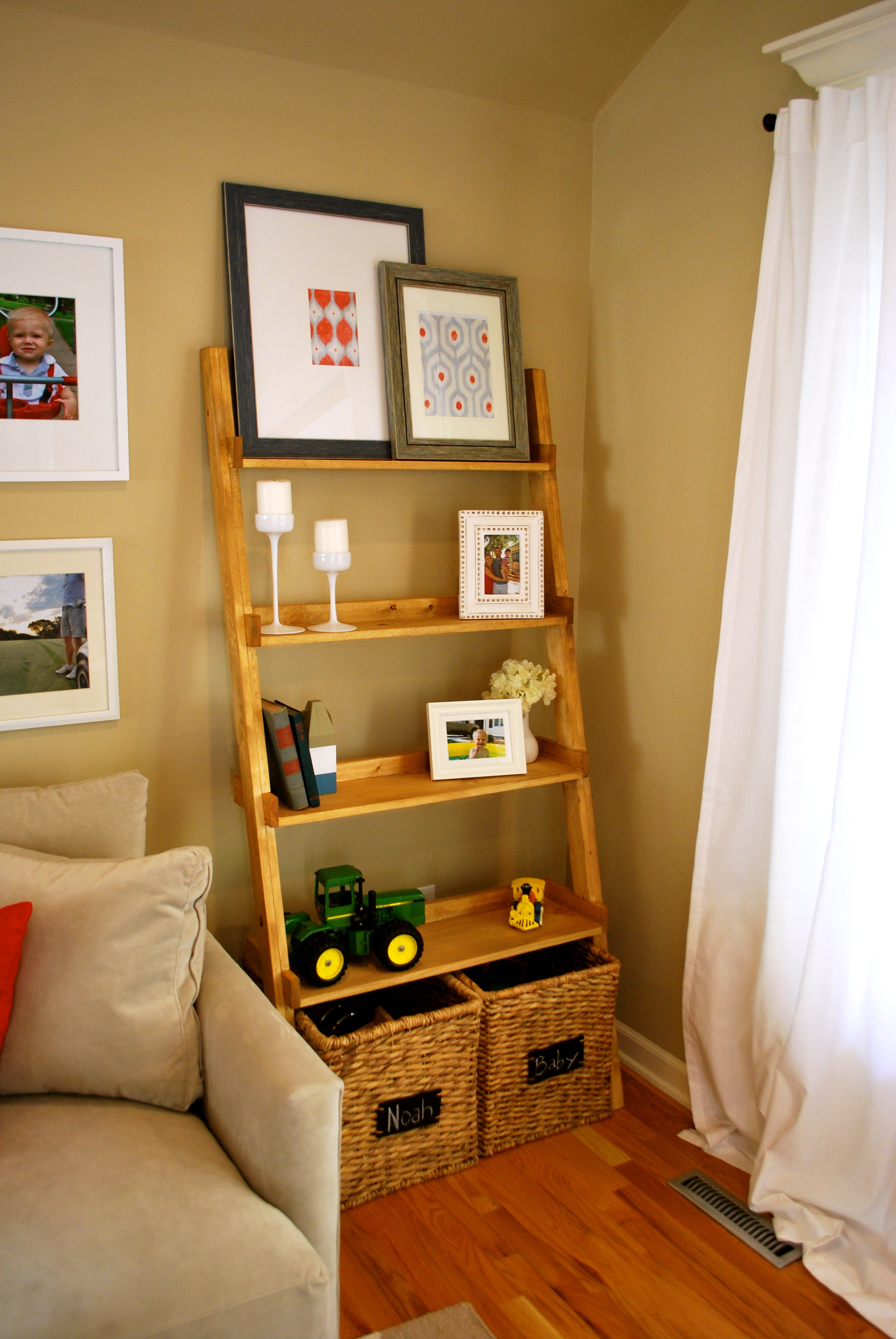 Diy Shelf  DIY Ladder Bookshelf An Easy Weekend Project