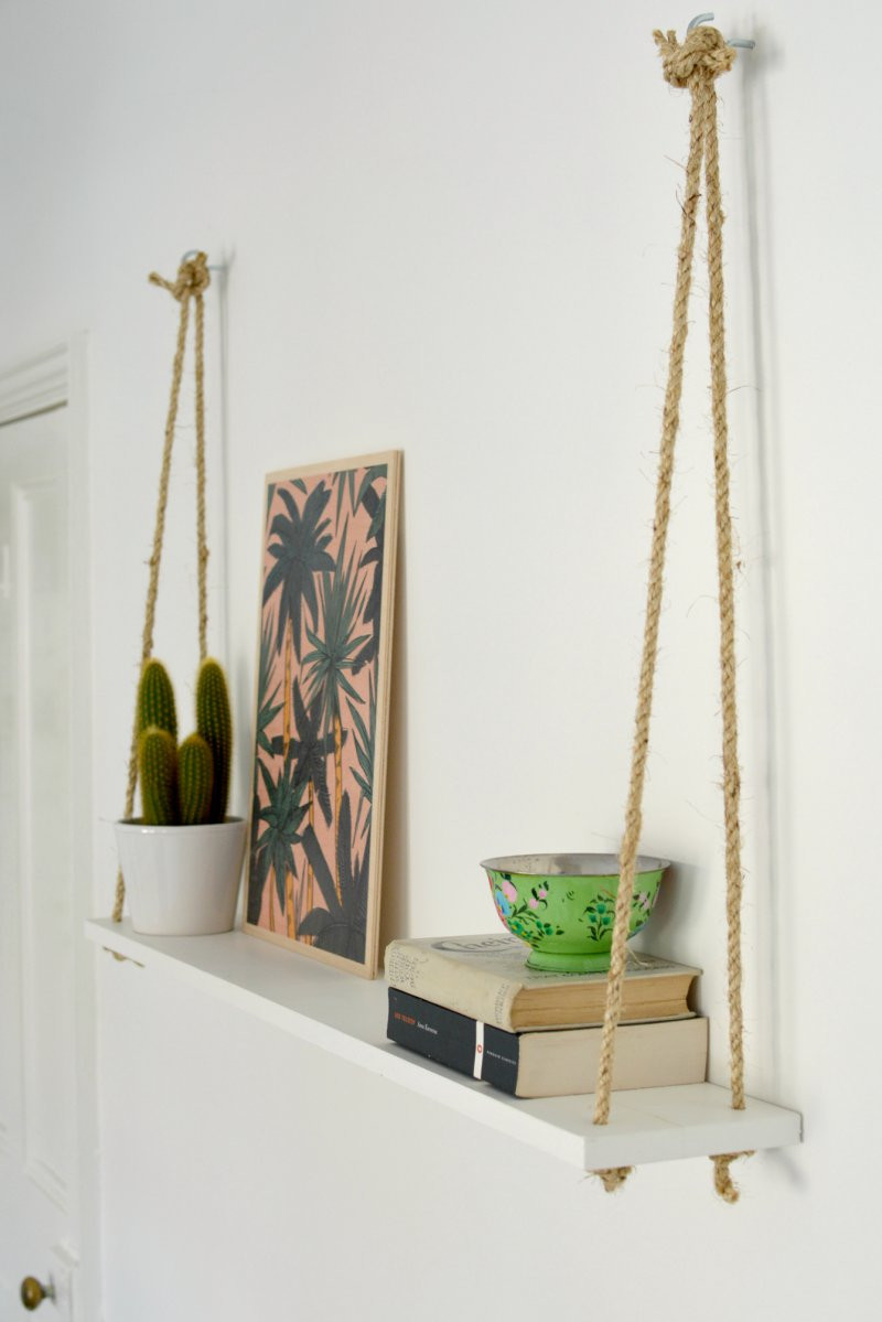 Diy Shelf  DIY easy rope shelf