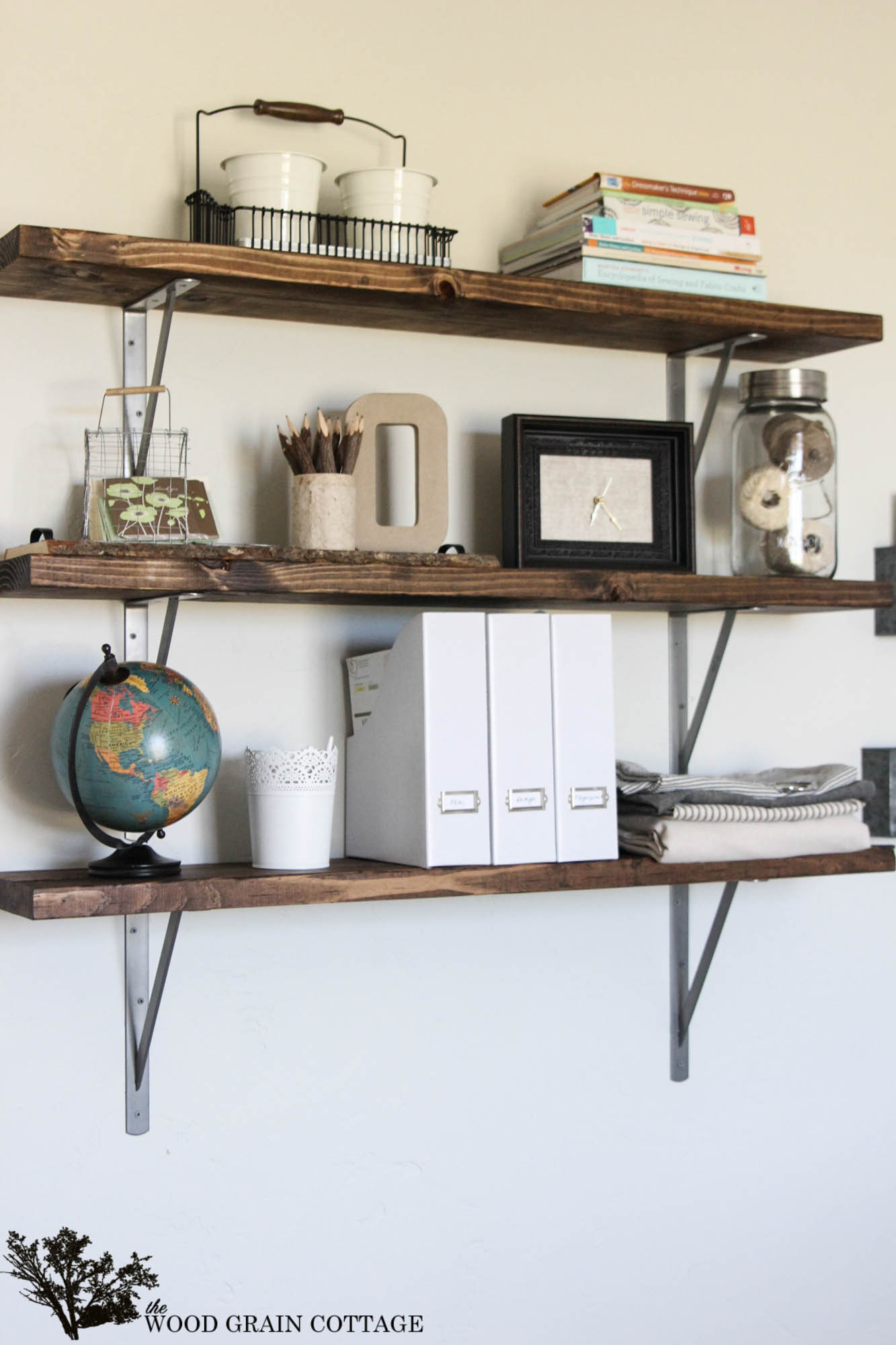 Diy Shelf  Farmhouse Flair Diy Wood Storage Shelf How To