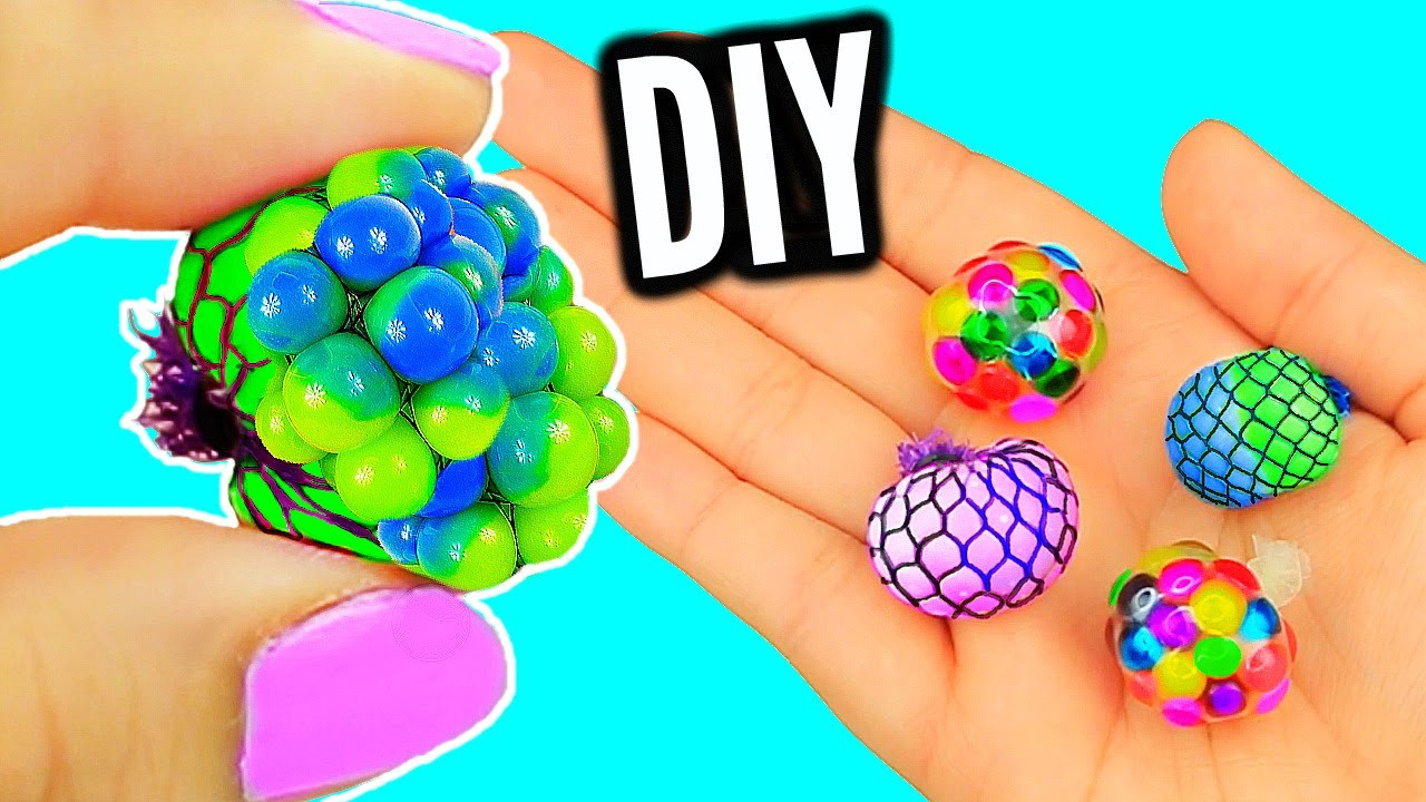Diy Stress Ball  DIY Mini Stress Balls Orbeez & Mesh Slime Stress Ball
