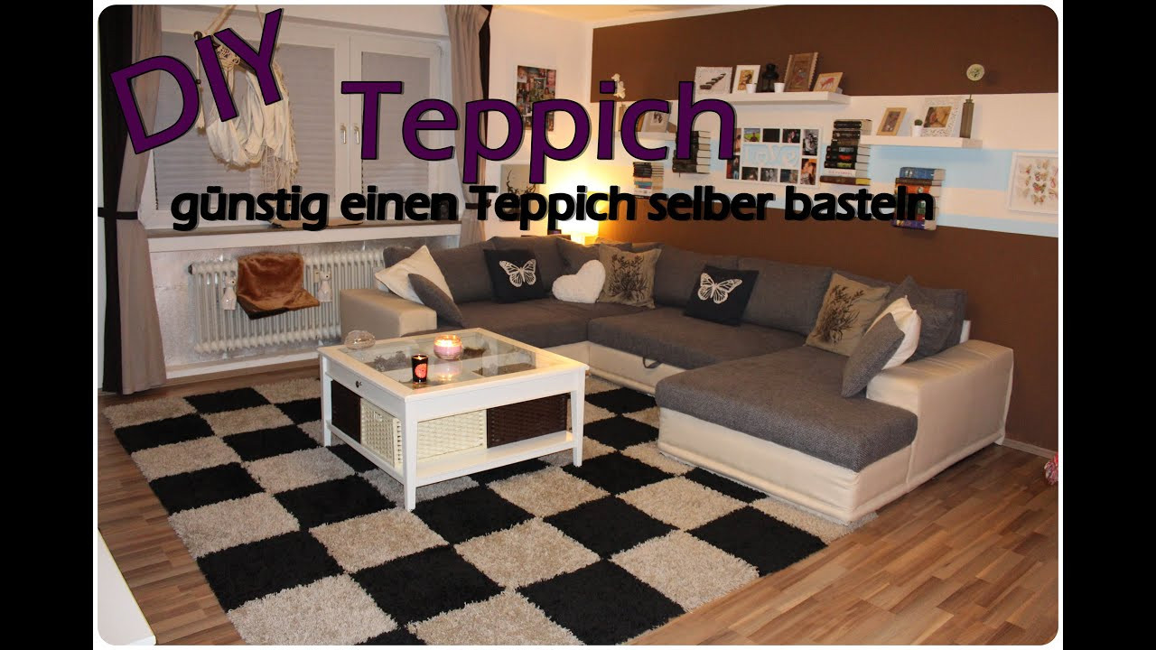 Diy Teppich  DIY Teppich günstig selber machen