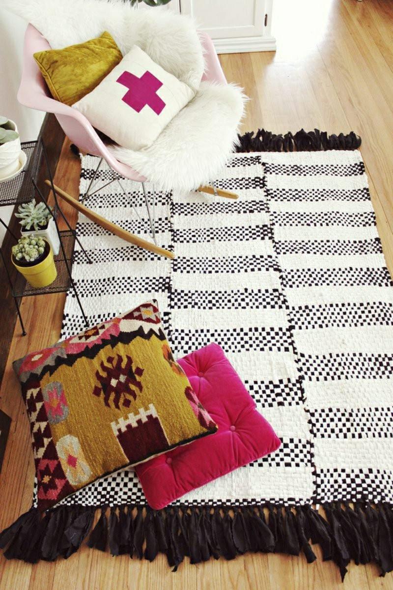Diy Teppich  Teppich selber machen als origineller Zusatz zum Interieur