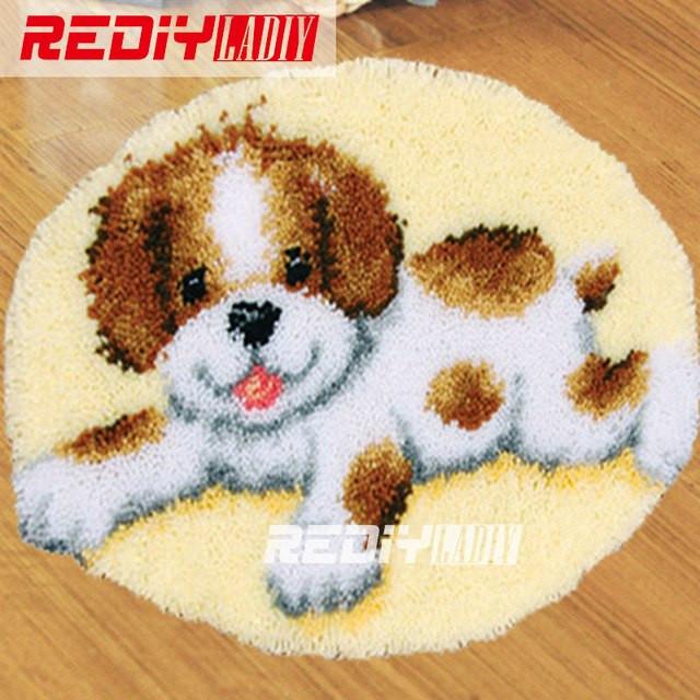 Diy Teppich  DIY Teppich Teppich Lächeln Welpen Knüpfteppich Kits