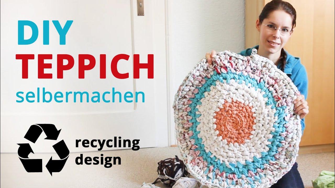 Diy Teppich  Teppich selber machen Recycling DIY alte Kleidung