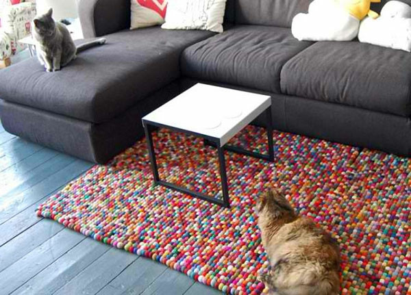 Diy Teppich  DIY Teppiche und Fußmatten Bunt wohnen