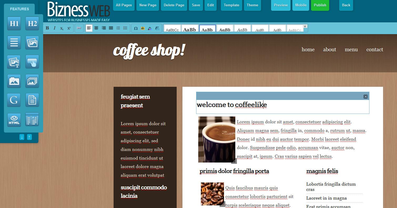 Diy Websitebuilder  Bizness Apps Launches DIY Website Builder Looks To Be e