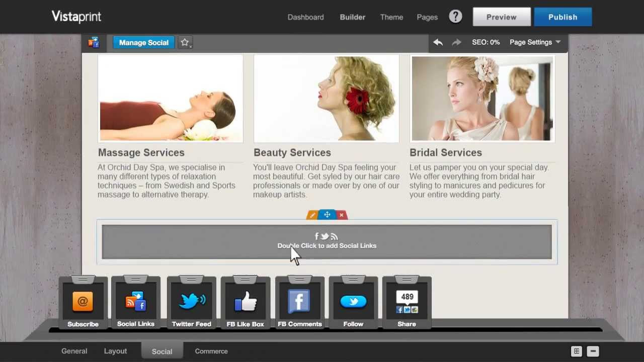 Diy Websitebuilder  Build a Website with Vistaprint WYSIWYG Site Builder
