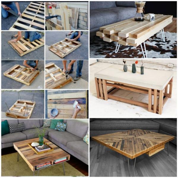 Diy Wohnzimmertisch  Wohnzimmertisch aus Holz selber bauen tolle DIY Ideen