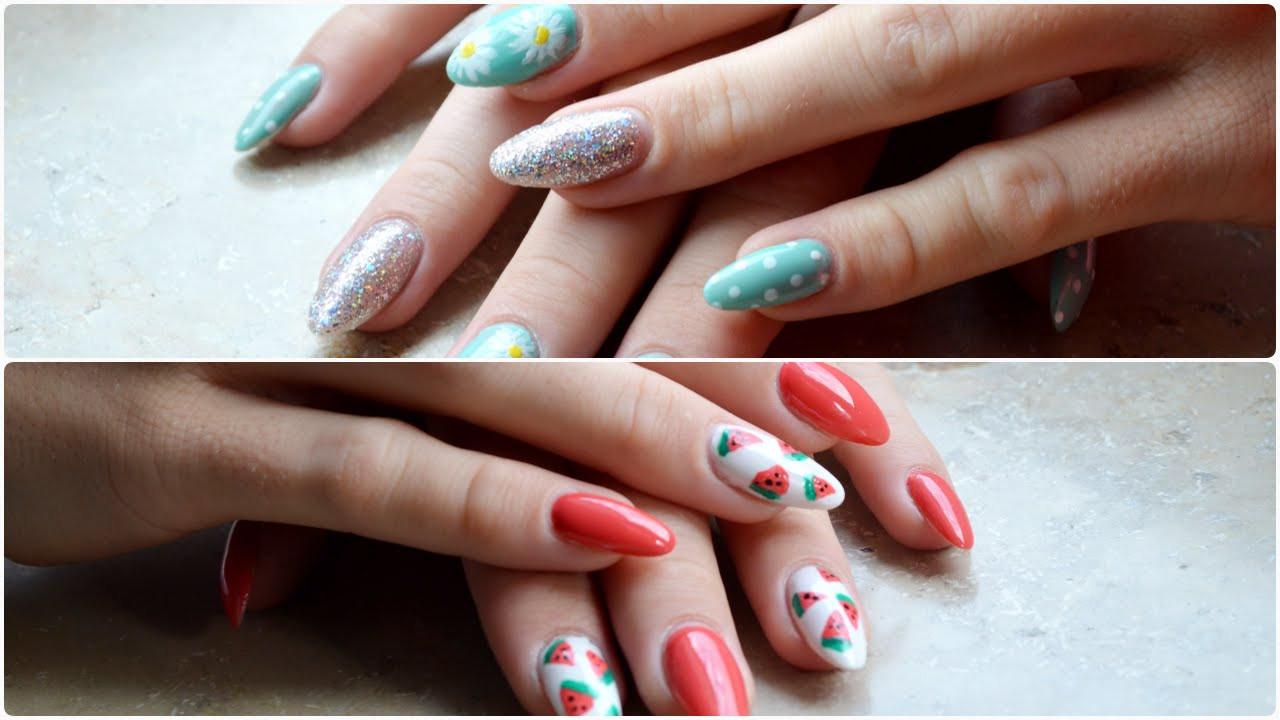 Einfache Nageldesigns  Einfache Sommer Nageldesigns Easy Summer Nail Designs