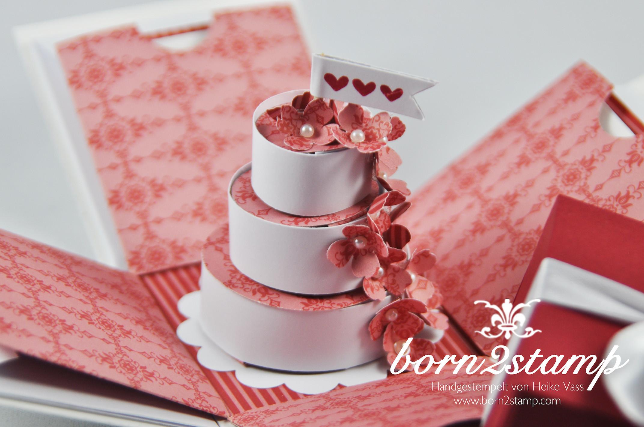 Explosionsbox Hochzeit Anleitung  Explosionsbox zur Hochzeit born2stamp