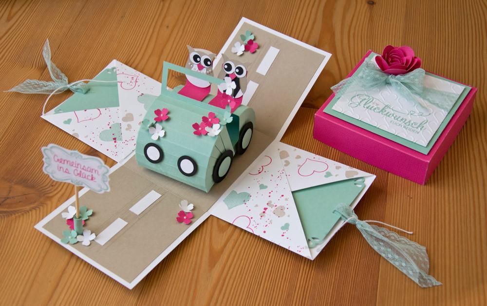 Explosionsbox Hochzeit Anleitung  Hochzeits Explosionsbox