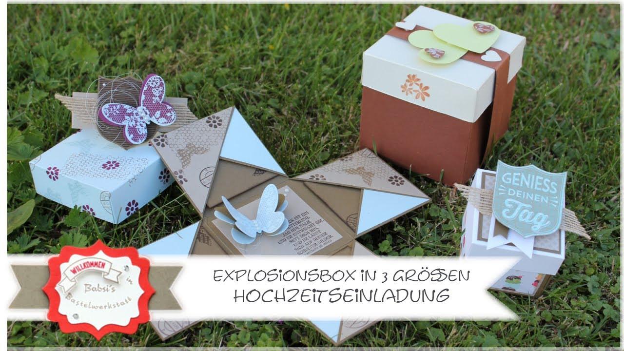 Explosionsbox Hochzeit Anleitung  Explosionsbox in 3 Größen Hochzeit Minibox