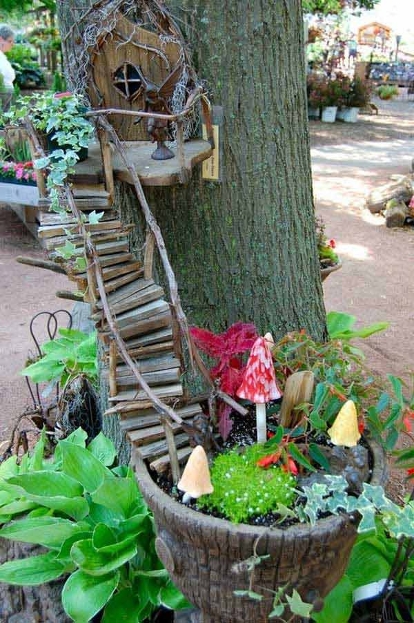 Fairy House Diy  34 Easy and Cheap DIY Art Projects To Dress Up Your Garden