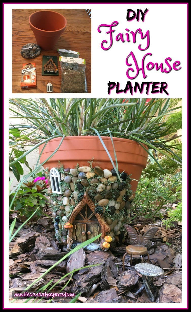 Fairy House Diy  Whimsical DIY Fairy House Planter LIFE CREATIVELY ORGANIZED