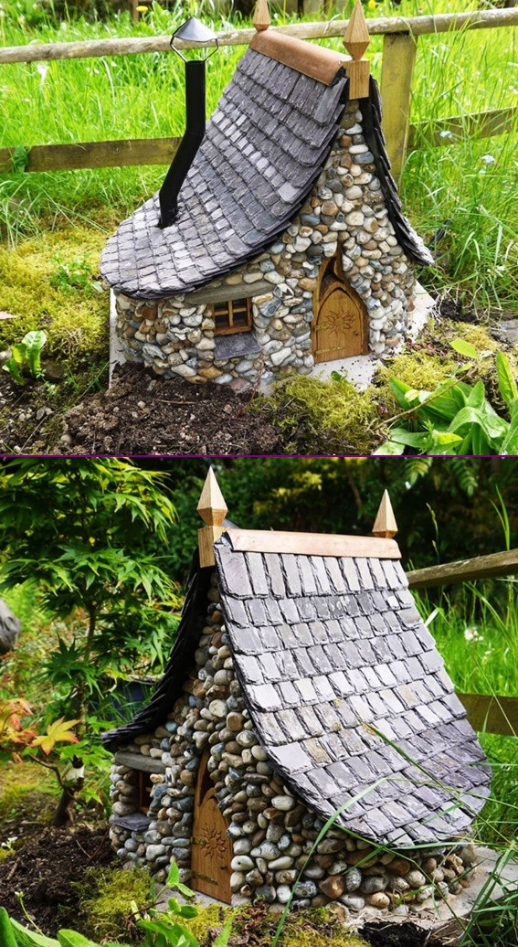 Fairy House Diy  Amazing Miniature DIY Stone Fairy House
