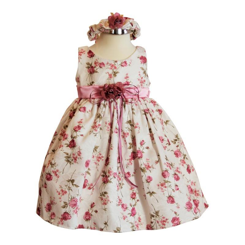 Festliche Babykleider Für Hochzeit  BIMARO Baby Mädchen Babykleid Emma rosa creme beige