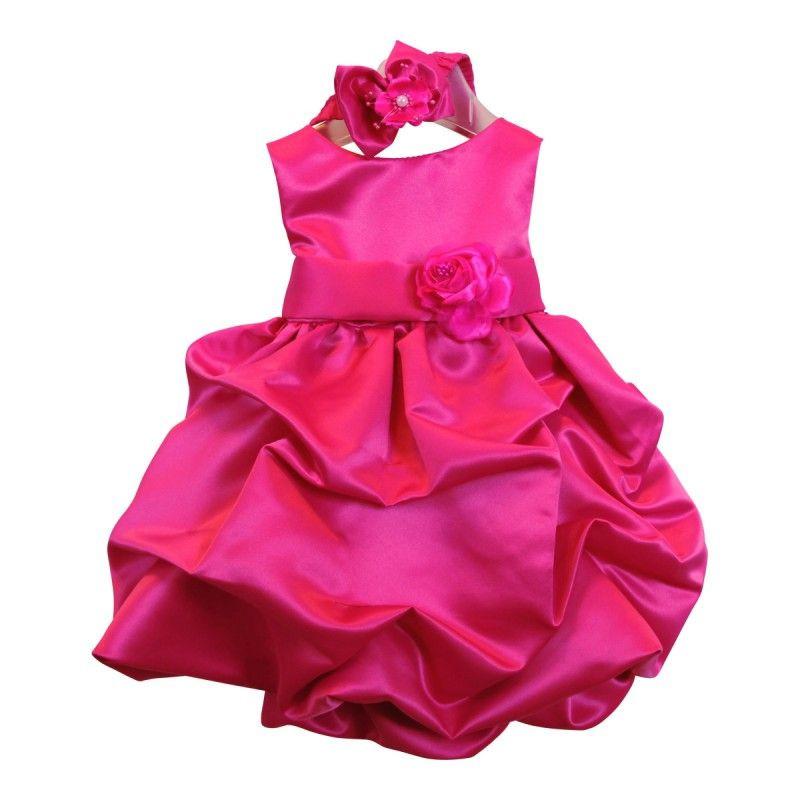 Festliche Babykleider Für Hochzeit  BIMARO Baby Mädchen Kleid Babykleid Lucy pink rosa