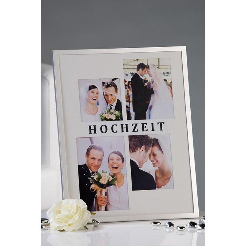"""Fotorahmen Hochzeit  Exclusiver Fotorahmen """"Hochzeit"""" weiss aus Alu Höhe 35cm"""