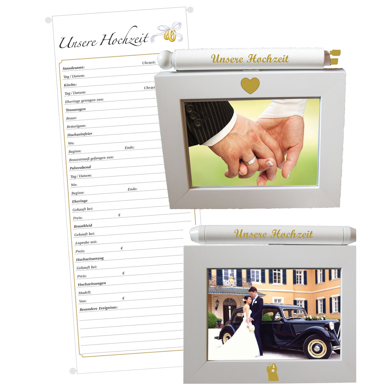 """Fotorahmen Hochzeit  DA ST Fotorahmen mit Urkunde """"Hochzeit"""" 13x18 Brautpaar"""